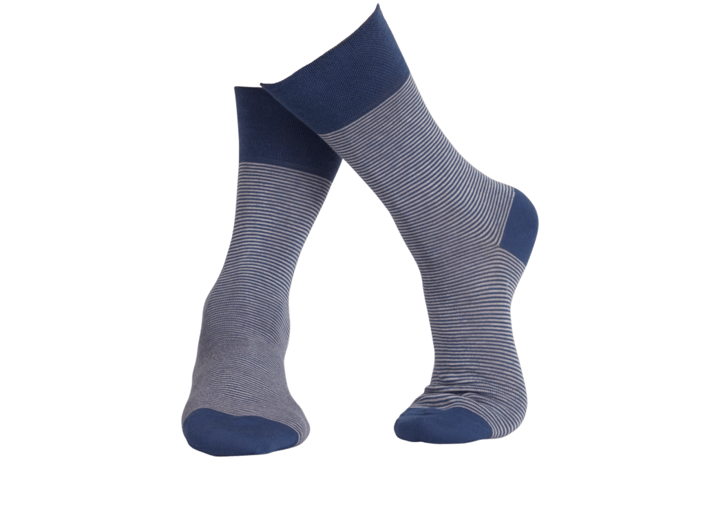 blue striped socks