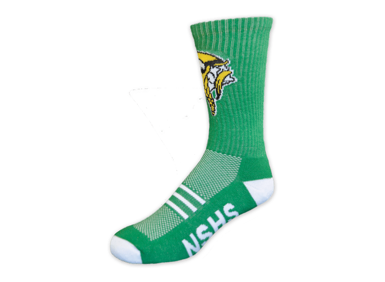 NSHS Vikings green custom socks