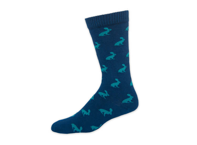 tall custom socks with rabbit graphic