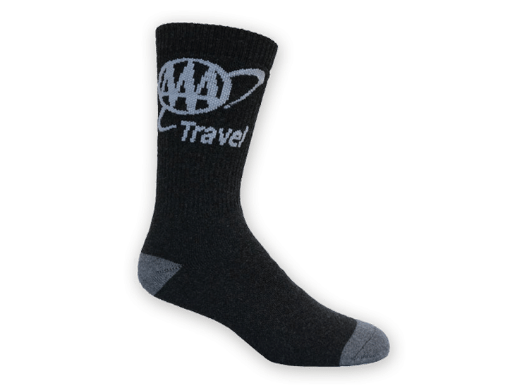 AAA travel custom socks